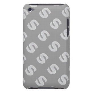 Silver Letter S Barely There iPod Cover