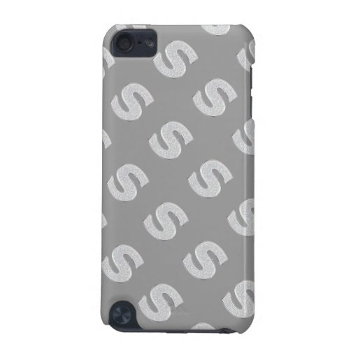 Silver Letter S iPod Touch (5th Generation) Cover