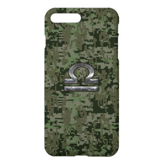 Silver Libra Zodiac Green Camo iPhone 7 Plus Case