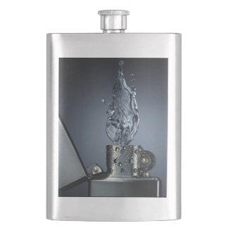 Silver Lighter Flask