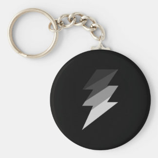 Silver Lightning Thunder Bolt Key Ring