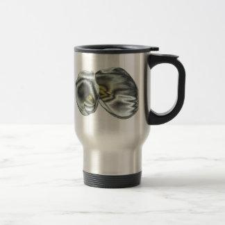 Silver Lilies Travel Mug