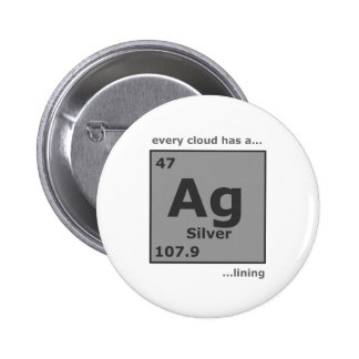 Silver Lining 6 Cm Round Badge