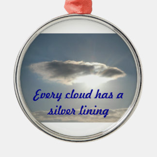 Silver Lining Christmas Ornament