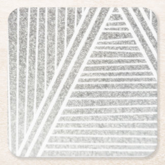 Silver Lining Square Paper Coaster