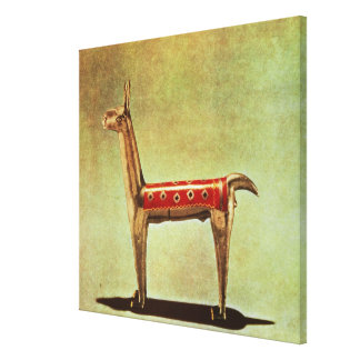 Silver Llama Figurine, from Peru, after 1438 Stretched Canvas Prints
