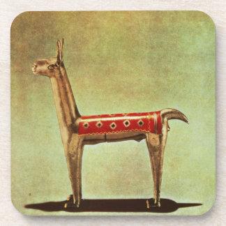 Silver Llama Figurine, from Peru, after 1438 Coasters
