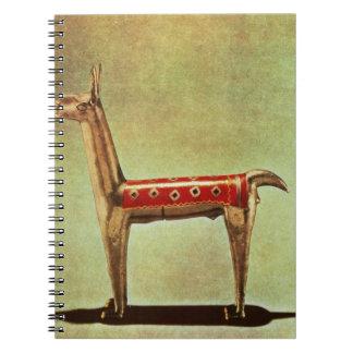 Silver Llama Figurine, from Peru, after 1438 Spiral Notebook