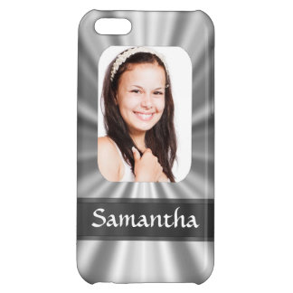 Silver look photo template iPhone 5C case