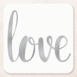 Silver love coasters