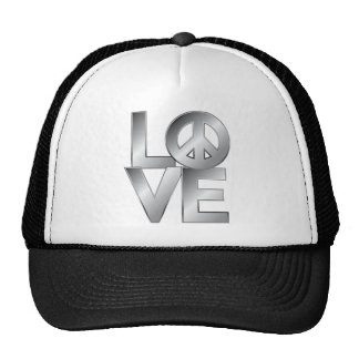 Silver LOVE=Peace Cap