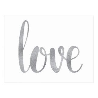 Silver love postcards