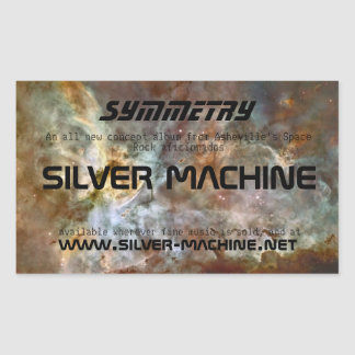 Silver Machine Symmetry Stickers