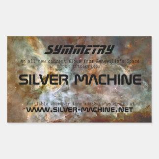 Silver Machine Symmetry Stickers