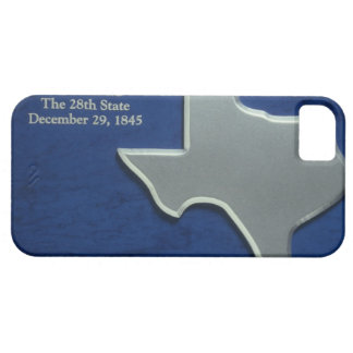 Silver Map of Texas iPhone 5 Case