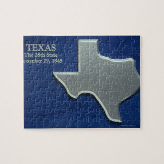 Silver Map of Texas Jigsaw Puzzle