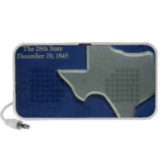 Silver Map of Texas iPod Speakers