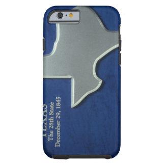 Silver Map of Texas Tough iPhone 6 Case