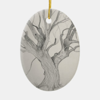Silver Maple Christmas Ornament