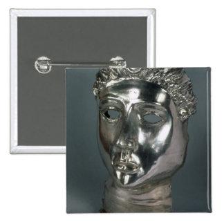 Silver mask, Roman, 1st half of 3rd century AD (si 15 Cm Square Badge