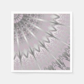 Silver Mauve Mandala Disposable Serviettes