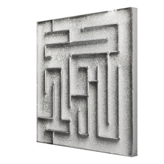 Silver maze canvas print