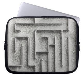 Silver maze laptop sleeve