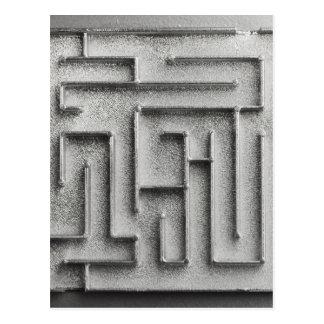 Silver maze postcard