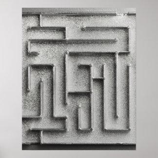 Silver maze poster