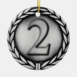 silver medal christmas ornament