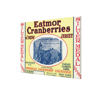 Silver Medal Eatmor Cranberries Brand Label Canvas Print