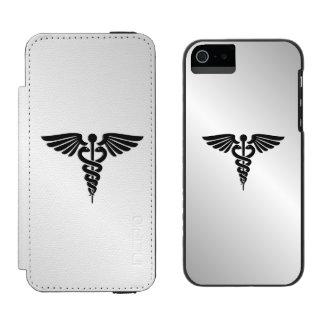 Silver Medical Caduceus Incipio Watson™ iPhone 5 Wallet Case