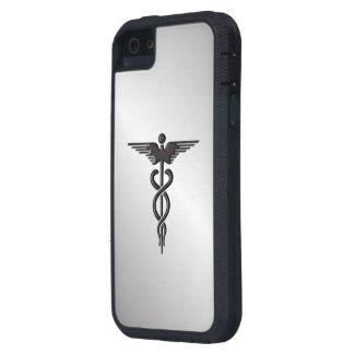 Silver Medical Caduceus iPhone 5 Cover