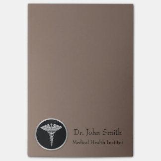 Silver Medical Caduceus - Post-it® Notes