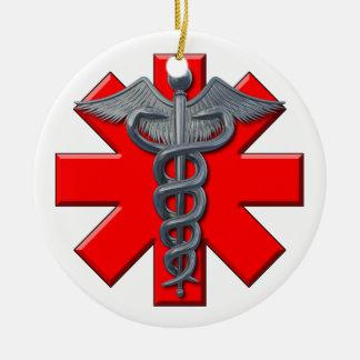 Silver Medical Profession Symbol Christmas Ornament