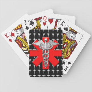 Silver Medical Profession Symbol Playing Cards