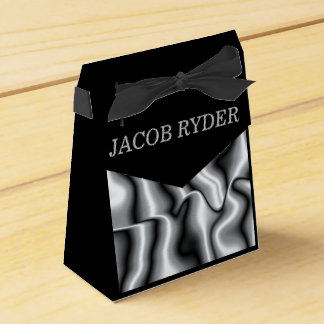 Silver Metal Collection Favor Bag Favour Box