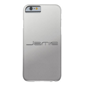 Silver Metal Customized iPhone 6 case covers Barely There iPhone 6 Case