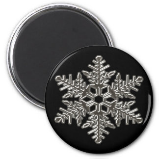 Silver Metal Deco Snow Fall Snowflakes Magnet