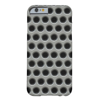 Silver Metal Grid Pattern Printed Barely There iPhone 6 Case