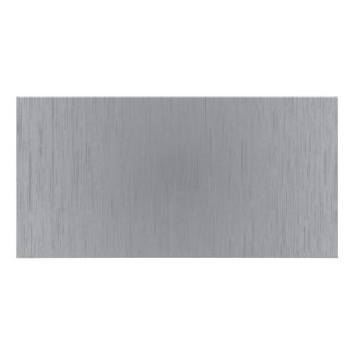 Silver Metal Look Picture Card