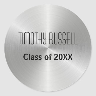 Silver Metal Shine - Graduation Sticker