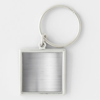 Silver metal texture key ring