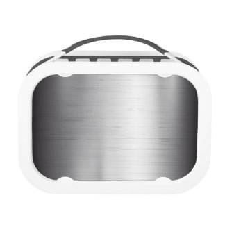 Silver metal texture lunch box