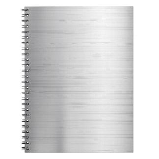 Silver metal texture notebooks
