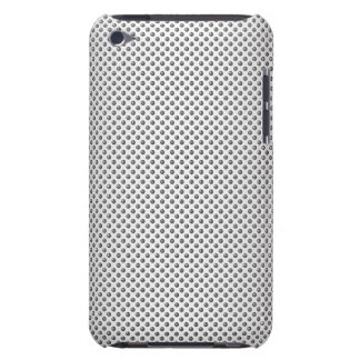 silver metal with screw pattern iPod Case-Mate case