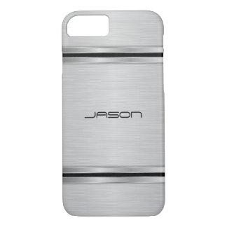 Silver Metallic Design iPhone 7 Case