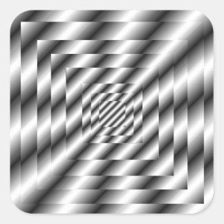 Silver Metallic Optical Illusion Sticker