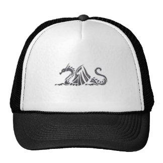 Silver Metallic Sea Dragon Cap