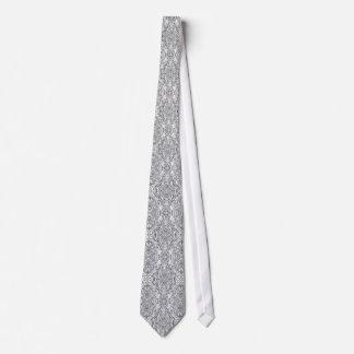 Silver Metallic Wedding Neck Tie